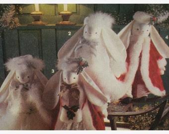 "Stuffed Bunny Dolls Pattern, Santa, and Snow Queen Clothes, Faith Van Zanten - Simplicity No. 8101 UNCUT Size: 20"" 51cm"