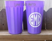 Personalized Stadium Cups - SET OF TWO - Tall