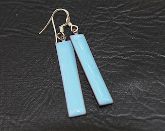 EN1017 - Enamel Earrings,Long Earrings, Torch fired, Mother's day, Anniversary