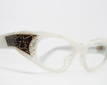 Small Cat Eye Glasses Vintage Cateye Frames Eyewear 1960s Eyeglasses