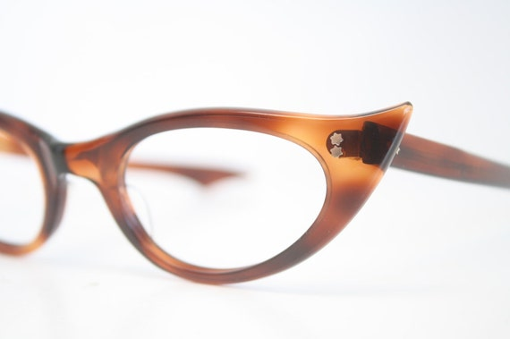 Unused Tortoise Cat Eye Glasses Cateye Frames Vintage Eyewear