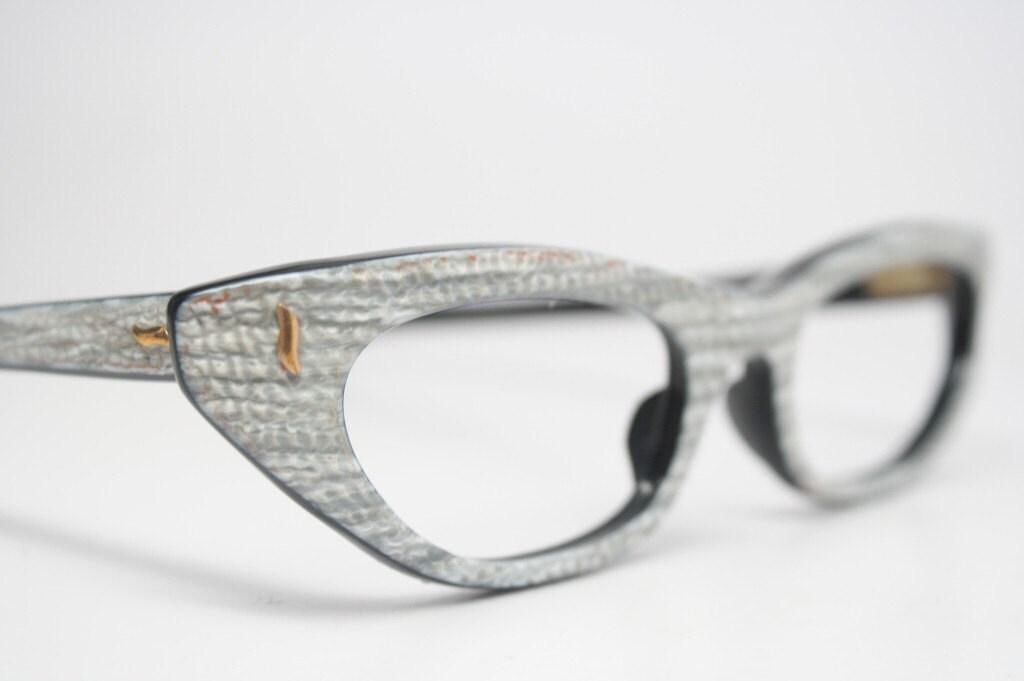 Cat Eye Frame Eye Glasses : cat eye glasses faux snakeskin vintage eyeglass frames