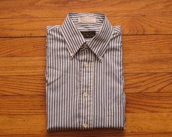 mens vintage Charles Reed bengal stripe button down shirt