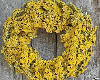 """16"""" Yarrow Wreath - Dried Flowers"""