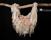 Newborn Baby Photo Prop Fringe Hammock Blanket Children Cream Neutral