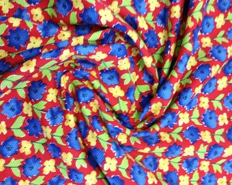 Vibrant Floral Piqué Cotton - Wide Width - In Your Choice of 2 Colors