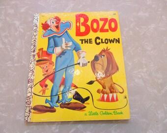 Little Golden Books 1960's vintage book BOZO THE CLOWN 1969