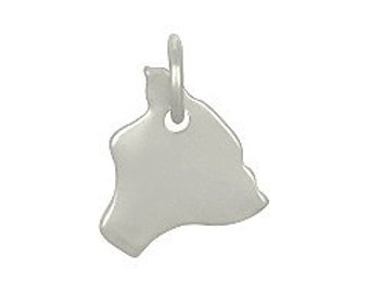 Sterling Silver Hawaii State Charm Qty 1