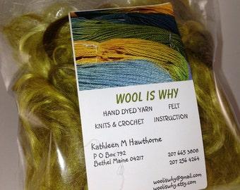 MOHAIR shine curly locks  YELLOW .5 OZ