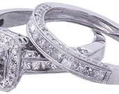 14k white gold round cut diamond engagement ring band 2.05ct h-vs2 egl us