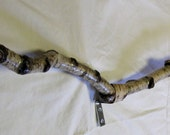 Birch Branch Curtain Rod White with Knotty Markings
