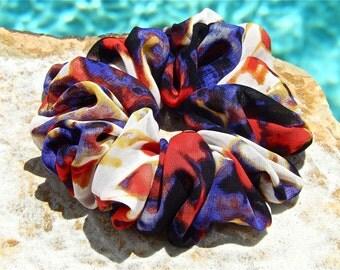 Tie Dye Scrunchie in Chiffon