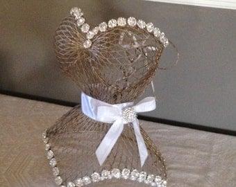 Corset- Centerpieces-Wired Form- Bridal Showers- Birthday Parties- Sweet Sixteen -Quincinero - Bat Mitzvah