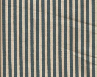 "Vintage 1988 Bloomcraft Ateler Collection ""Chippendale Stripe"" Drapery Fabric (2 Yds)"
