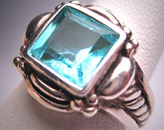 Vintage Topaz Ring Designer Setting Estate Wedding Deco