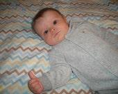 Chevron Baby Minky Blanket
