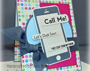 Smart Phone -- Handmade -- Any Occasion Card