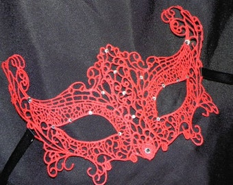Red Lace Masquerade Mask - Available in Lots of Colors