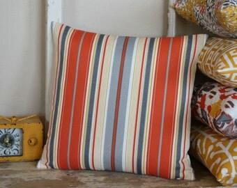 Outdoor Citrus Terrace Stripe Pillow Cover - 16 inch