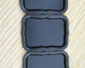 LAST ONE Vintage Tole Blank Black Tray 1960s Unpainted For Painting