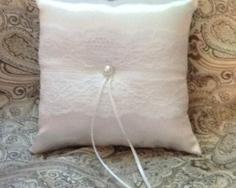 custom made white lace ring bearer pillow