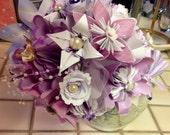 Large Origami Bouquet Plus Lapel Flower