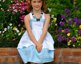 Girls Alice in Wonderland Dress, Princess Party Dress inspired by Disney's Alice available in sizes 18m, 2T-8girls