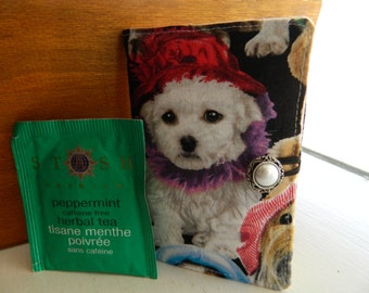 NEW!!! Cute Puppies Tea Time Wallet. (Great Gift For The Animal Lover)
