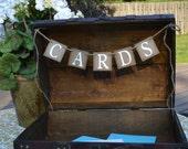 Cards Banner -  Suitcase decoration  - Reception decor