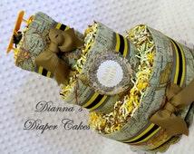Baby Diaper Cake Final Destination World Map Travel Airplane Shower Centerpiece Gift