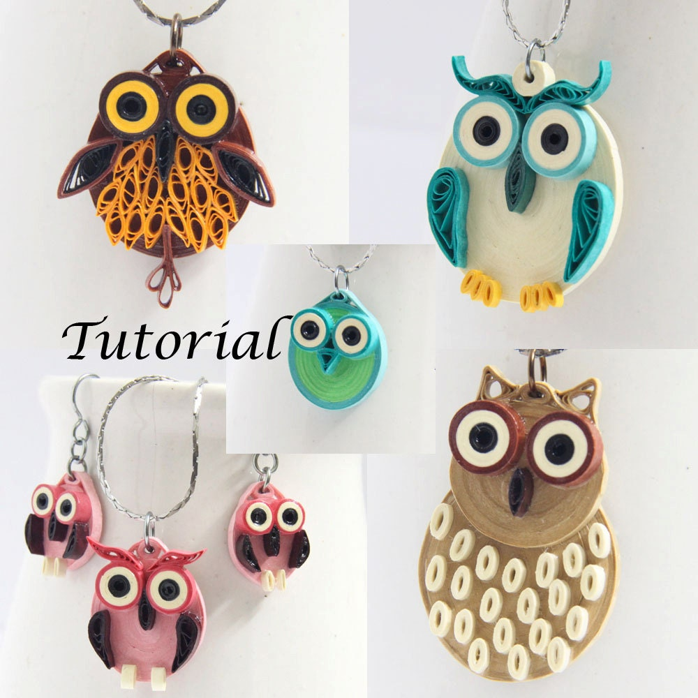 Eco friendly paper earrings jewelry & pdf tutorials by ...