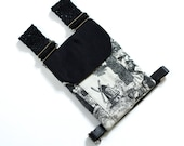 Small Black & White Fabric Holster