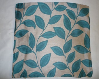 """Teal Blue Chenille 19"""" ZIP Pillow Cover Designer Cushion Cover Throw Scatter Decorative Pillow."""