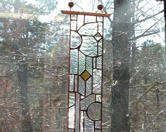 Sunscape stained glass art home and living stained glass panel window treatment gift art glass
