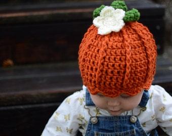EllieOh's - Pretty 'lil Pumpkin Hat