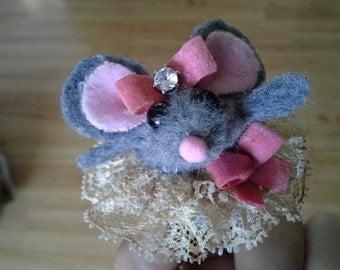 Tutu Mouse Finger Puppet  Valentine Twinkle Toes Ballerina Flower Girl Tutu