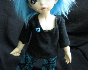 LTF/YOSD Black Shirt and Snake blue Pant Set CLEARANCE Price