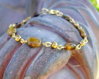 Be Focused Tigers EyE Energy Protection and Healing Bracelet
