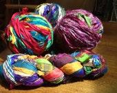 """Recycled Sari Silk """"Yarn"""""""