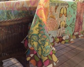 Hand Made Pieced Tablecloth using Amy Butler and Michael Miller fabrics, Retangle