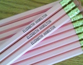 1 dozen pink personalized pencils