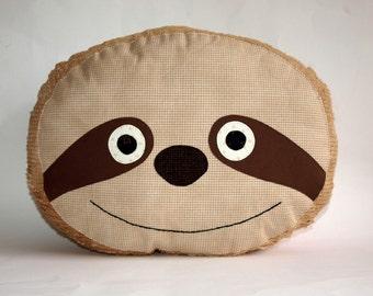 Sloth, pillow, cushion, plush, PDF Sewing Pattern Direct Download