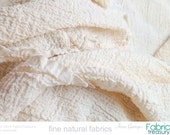 "Cotton Crepe Fabric. Dyeable Organic Cotton Crinkled Fabric. Washed Crepe 20s. 36"" crinkled width / 50"" stretched width. Summer dress fabric"