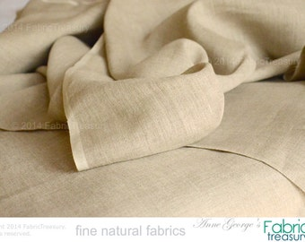 "Natural Linen Fabric. Wholesale Fabric Bolt. Unbleached natural. Wedding Decoration Rustic Linen. Sofa covers, burlap bags etc. 58"" W"