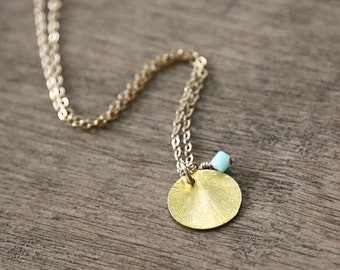 Amour - CUSTOM Necklace- 14k gold filled chain -everyday delicate necklace-bridesmaid