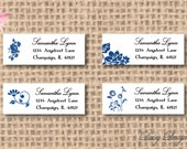 Return Address Labels with Four Flower Images - 120 self-sticking labels
