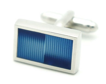 Blue Rectangle Cufflinks