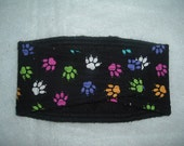 Male Dog Belly Bands Waist 15.50 x 4.00 Fits 13.50 to 17.50 inches Wraps by Sew Dog Diapers Quilted Padded Belt BellyBand # 126 PAWS