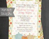 Printable Little Pumpkin Baby Shower Invitation - Digital File ONLY