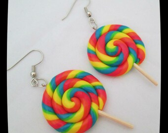 Lollipop Candy Earrings